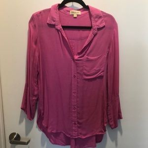 CLOTH & STONE pink comfy boho button down